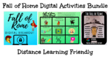 Distance Learning Friendly:  Fall of Rome Digital Activities Bundle