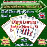 Distance Learning GOOGLE FORMS Math Review Warm-Ups/Quizze