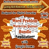 Distance Learning GOOGLE FORMS Math Word Problem Warm-Ups/