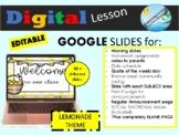 Distance Learning GOOGLE SLIDES editable for Morning meeti