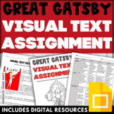 The Great Gatsby Assignment 1920s VISUAL TEXT POSTER with Rubric