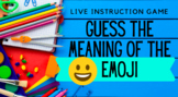 Distance Learning Game Guess the Emoji for Live Instructio