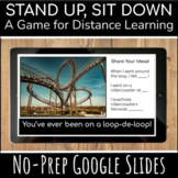 Distance Learning Games for Zoom   Stand Up Sit Down Brain Break   Google Slides
