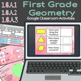 Digital 1st Grade Geometry: Shapes and their Attributes (Google Slides)