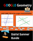 Distance Learning Geometry Google Lesson Bundle