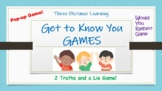 Distance Learning Get to Know You Games