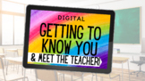 Distance Learning Getting to Know You and Digital Meet the
