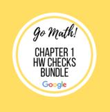 Distance Learning Go Math Grade 4 Chapter 1 Homework Google Sheets Bundle
