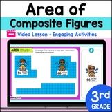 Distance Learning Google Classroom 3rd Grade Area Irregular Figures Lesson 4