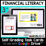 Google Classroom -3rd Grade Financial Literacy Review - Digital Math Station