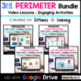 Distance Learning Google Classroom 3rd Grade Perimeter Bundle