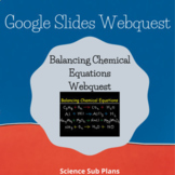 Distance Learning Google Classroom: Balancing Chemical Equations Webquest