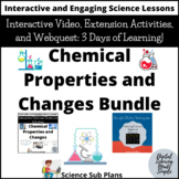 Distance Learning Google Classroom- Chemical Changes Lesson and Webquest