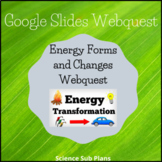 Distance Learning Google Classroom: Energy Forms and Changes Webquest