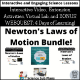 Distance Learning Google Classroom- Newton's Laws of Motion Bundle