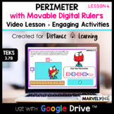 Distance Learning Google Classroom Perimeter - Measure Sides with a Ruler