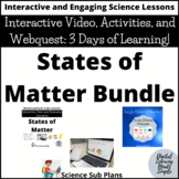 States of Matter: Interactive video and webquest- Distance Learning 3 Day Bundle
