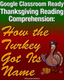Distance Learning Google Classroom Thanksgiving Reading Co