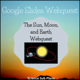 Distance Learning Google Classroom: The Sun, Moon, and Earth Webquest