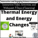 Distance Learning: Thermal Energy and Energy Changes Video and Webquest