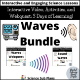 Waves: Interactive video, activities, and webquest- 3 days of Distance Learning