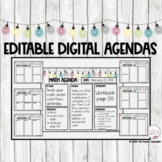 Distance Learning Google Slides™ Editable Daily Agendas Sh