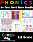 First Grade Phonics Distance Learning Google Slides Bundle Level 1  (Units 1-14)
