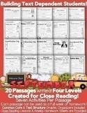 Distance Learning: Google Slides™ & PDF September Close Reading LEVELED Passages