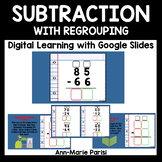 Distance Learning Google Slides Subtraction WITH Regrouping