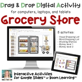 Grocery Store Digital Activities on Boom Cards and Google