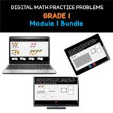 Distance Learning   Grade 1 Math Practice: Module 1 Bundle