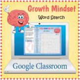 DIGITAL GROWTH MINDSET Word Search Puzzle Worksheet Activity - Google Slides