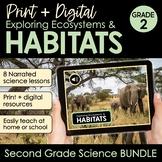 Habitats & Ecosystems 2nd Grade Science Print + Digital BU