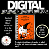 Distance Learning Halloween Direct Objects and Indirect Ob