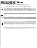 Handwriting and Drawing Practice Worksheets - Kindergarten