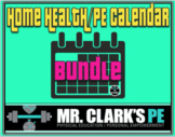 Distance Learning Health and Physical Education Activity Calendar Bundle