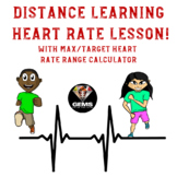 Distance Learning Heart Rate Calculation Lesson with Calculator!