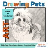 Art Lesson Drawing Animals in Graphite for Middle or High