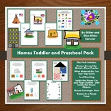 Distance Learning Homes Toddler and Preschool Pack #Distan