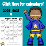 Distance Learning Homework Calendars 2021-2022 {FULLY Editable}