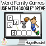 Distance Learning Word Family Games Bundle for Google™ Classroom