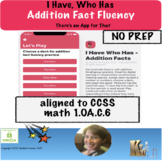 Distance Learning I Have Who Has Addition Fact Fluency App-tivity