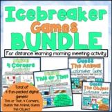 Distance Learning Icebreaker Games BUNDLE
