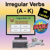 Distance Learning: Boom Cards | Irregular Verbs | A - K