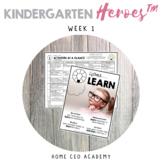 Distance Learning Kindergarten Curriculum - Week 1 (Distan