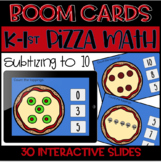 Distance Learning-Kindergarten Pizza Math Counting Sets! S