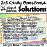 Distance Learning: Lab Choice Board - Solutions