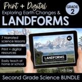 Landforms & Earth Changes 2nd Grade Science BUNDLE