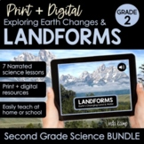 Distance Learning Landforms & Earth Changes 2nd Grade Prin