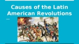 Distance Learning: Latin American Revolutions unit - slide